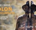 """Flyer """"Exhibition - Folon The sculptures - Photographs by Thierry Renauld"""""""